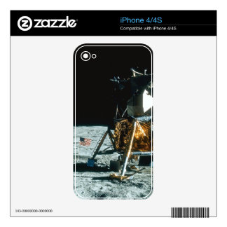 Lunar Module on the Moon Skins For The iPhone 4