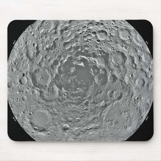 Lunar mosaic of the south polar region of the m mouse pad