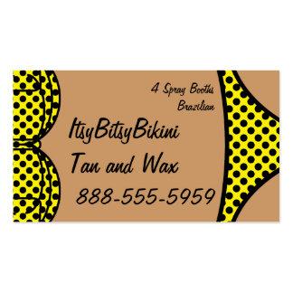 Lunar negro del bikini tarjetas de visita
