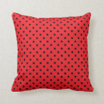Lunar negro y rojo de la almohada