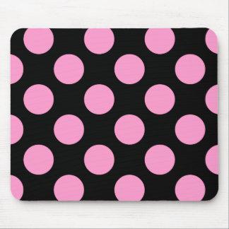 Lunar negro y rosado Mousepad Alfombrillas De Ratón