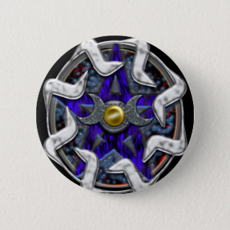 lunar pentacle pinback button