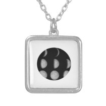 Lunar Phase Silver Plated Necklace