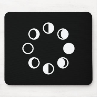 Lunar Phases Pictogram Mousepad