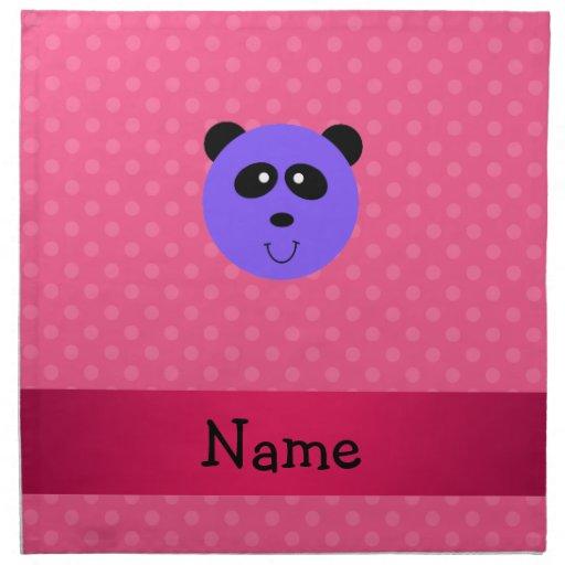 Lunar púrpura conocido personalizado del rosa de l servilleta imprimida