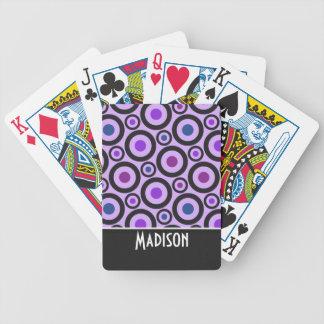 Lunar púrpura de moda barajas de cartas