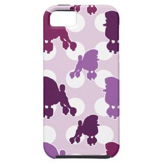 Lunar púrpura del caniche iPhone 5 Case-Mate carcasa