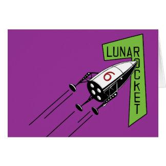LUNAR ROCKET CARD