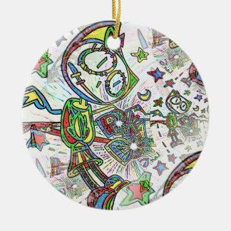 Lunar (rogación) adorno navideño redondo de cerámica