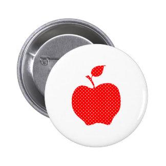 Lunar rojo y blanco Apple Pin Redondo De 2 Pulgadas