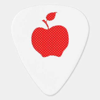 Lunar rojo y blanco Apple Púa De Guitarra
