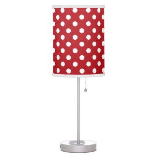 Lunar rojo y blanco lámpara de escritorio