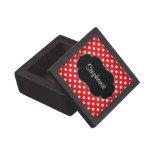 Lunar rojo y blanco personalizado cajas de regalo de calidad