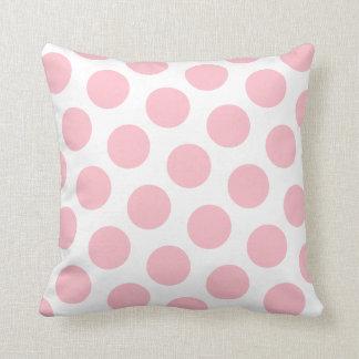 Lunar rosado cojín decorativo