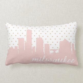 Lunar rosado de Milwaukee Cojín
