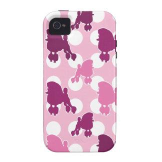 Lunar rosado del caniche iPhone 4/4S funda