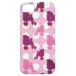Lunar rosado del caniche iPhone 5 carcasas
