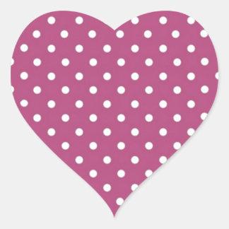 Lunar rosado del personalizar pegatina en forma de corazón