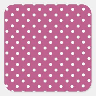 Lunar rosado del personalizar pegatina cuadrada