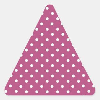 Lunar rosado del personalizar pegatina triangular