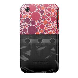 Lunar rosado rojo de lujo iPhone 3 protectores
