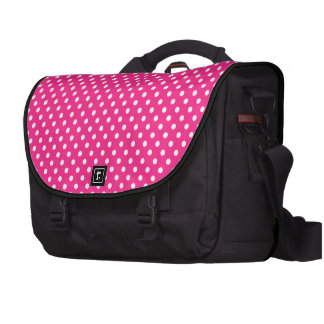 Lunar rosado y blanco bolsas de portatil