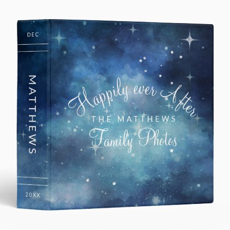 Lunar Sky Full Moon Celestial Family Photo Album 3 Ring Binder