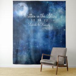 Lunar Sky Full Moon Wedding Photo Booth Backdrop