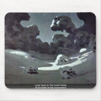 Lunar Spots In The Forest Winter Mousepad