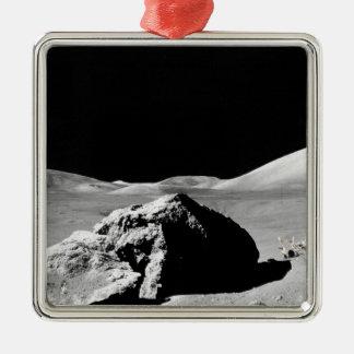 Lunar surfaces metal ornament