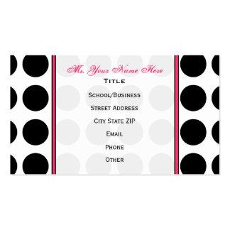 Lunar/tarjeta de visita rosada de moda del