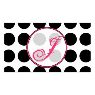 Lunar/tarjeta de visita rosada de moda del tarjetas de visita