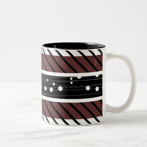 Lunar, taza de café rayada, retra del modelo