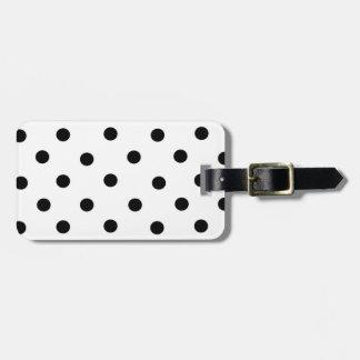Lunar y coral negros/blancos etiqueta para maleta