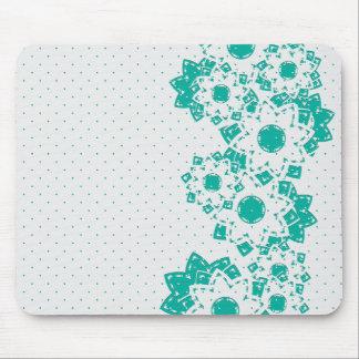 Lunar y flores de Mousepad