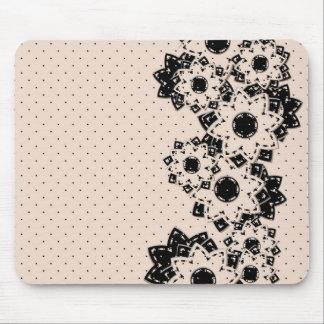Lunar y flores de Mousepad Tapete De Raton
