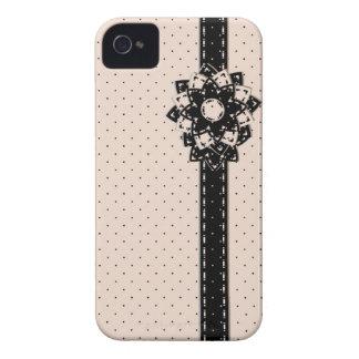 lunar y flores del caso del iPhone 4 Case-Mate iPhone 4 Cárcasa