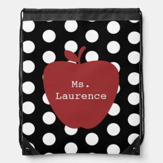 Lunar y mochila roja del lazo del profesor de Appl