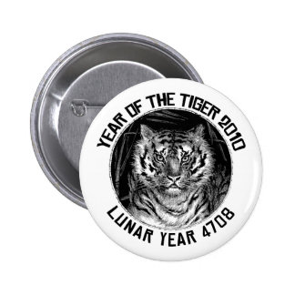 Lunar Year 4708 Year of The Tiger 2010 Pin