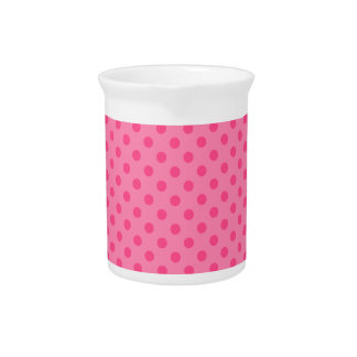 Lunares - 6a rosado jarras para bebida