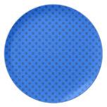 Lunares - 6b azul platos para fiestas