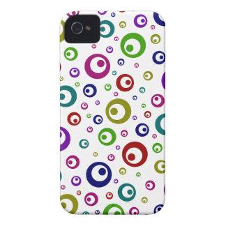 Lunares abstractos multicolores carcasa para iPhone 4