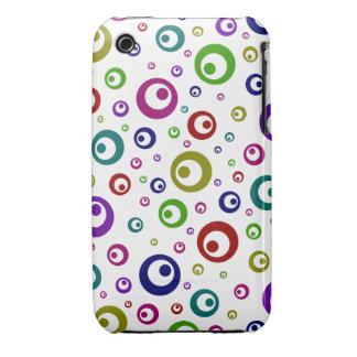 Lunares abstractos multicolores iPhone 3 Case-Mate protectores