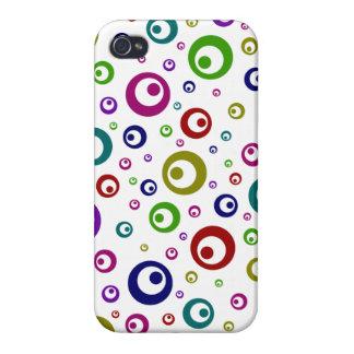 Lunares abstractos multicolores iPhone 4 fundas