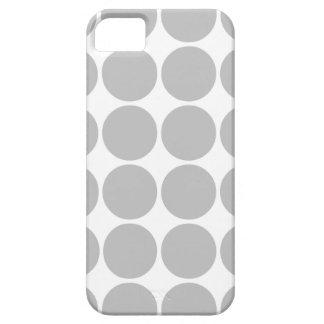 Lunares accesorios elegantes femeninos de la plata iPhone 5 Case-Mate carcasas