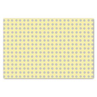 Lunares amarillo claro y grises papel de seda pequeño