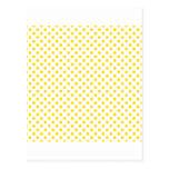Lunares - amarillo de oro en blanco postal