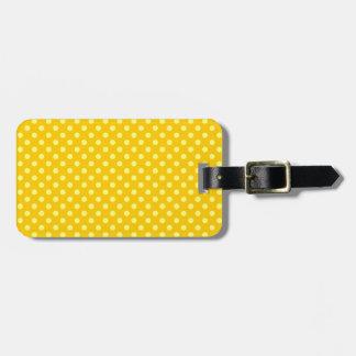 Lunares - amarillo en amarillo de la mandarina etiquetas maleta