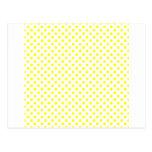 Lunares - amarillo en blanco postal
