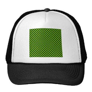 Lunares - amarillo en verde oscuro gorras